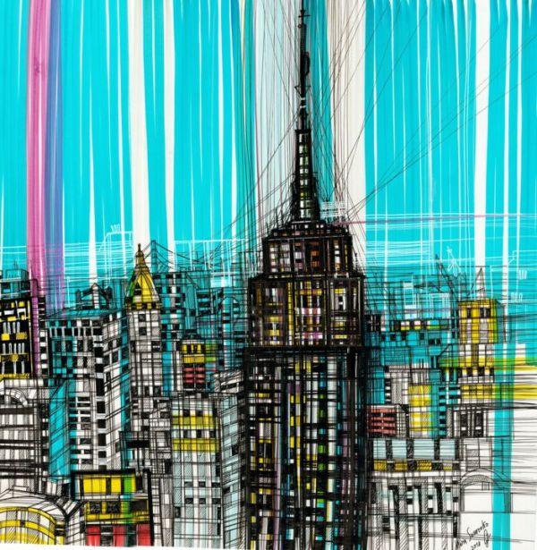 Empire State Building Drawing Maria Susarenko Artmajeur