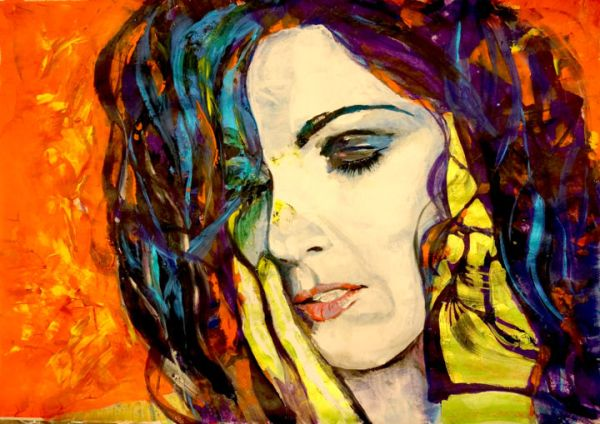 Face Abstract Expressionism Paintings