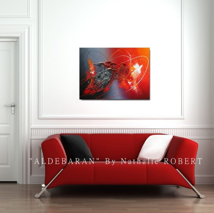 aldebaran tableau moderne peinture