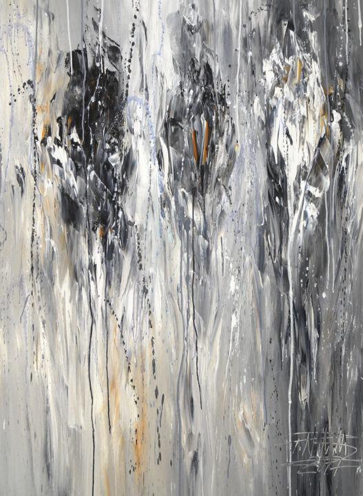 Black White Experiment 3 Painting Peter Nottrott Artmajeur