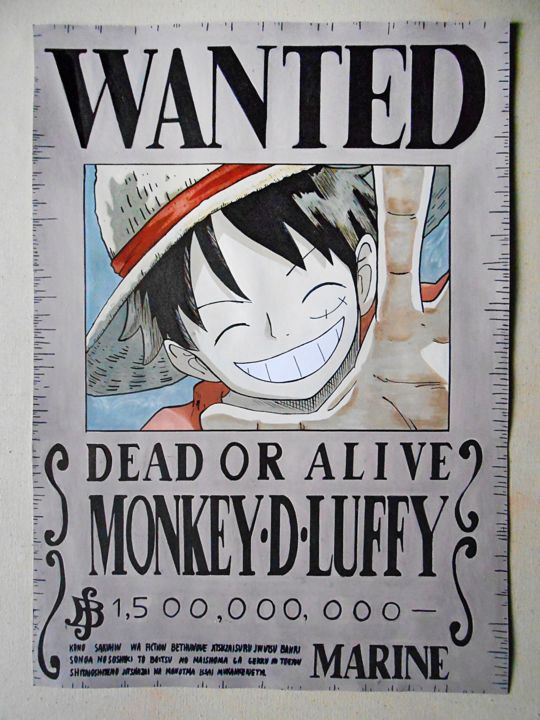 monkey d luffy wanted