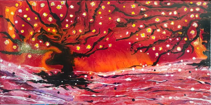 cerisier du japon peinture par sophie