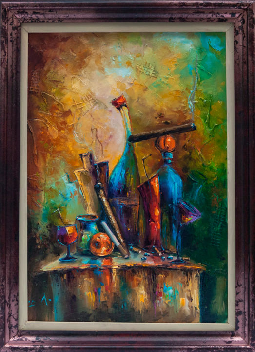 Artist Rest Original Oil Painting - Fine Art Life Free Shipping Stanislav