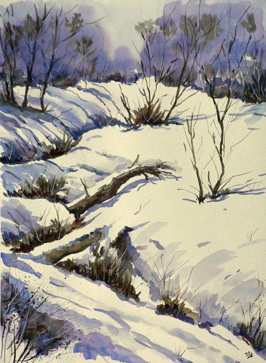 Paesaggio con neve Paesaggi invernali  Winter landscapes
