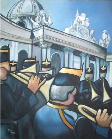 """'Musique à Vienne"""" Huile sur toile 2006"""