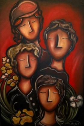 L'amarante, huile et acrylique sur toile 20 x 30, 2012