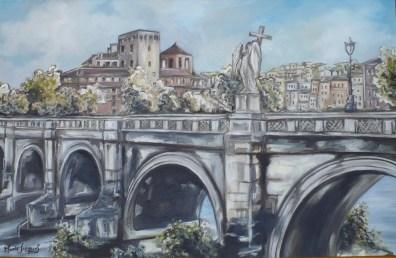 """Rome"" Huile sur toile 2012 VENDU"