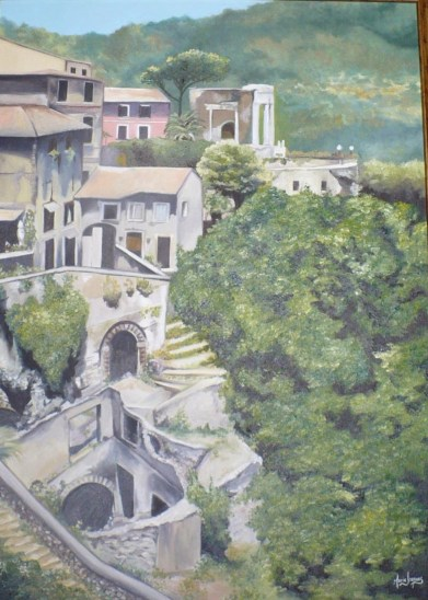 """Tivoli"" Huile sur toile 22 x 28. 2007"