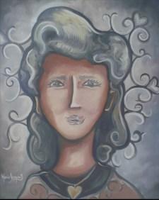 """""""Vieux jours d'amour"""" Huile sur toile 16 x 20. 2011"""