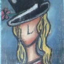 """""""Pastel #8"""", pastel sec sur bois."""