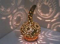 HANDMADE Gourd lamp,Krbislampe handcrafted Lam ...