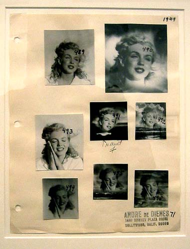 A 1949 contact sheet by Andre de Dienes