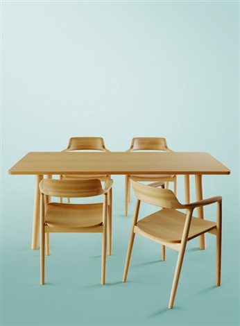 set of 4 dining chairs best wooden high chair hiroshima table by naoto fukasawa on