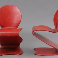Panton S Chair Steel Online Chairs Model 276 Pair By Verner On Artnet