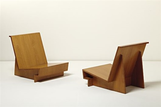 frank lloyd wright chairs beach for heavy person usonian pair by on artnet