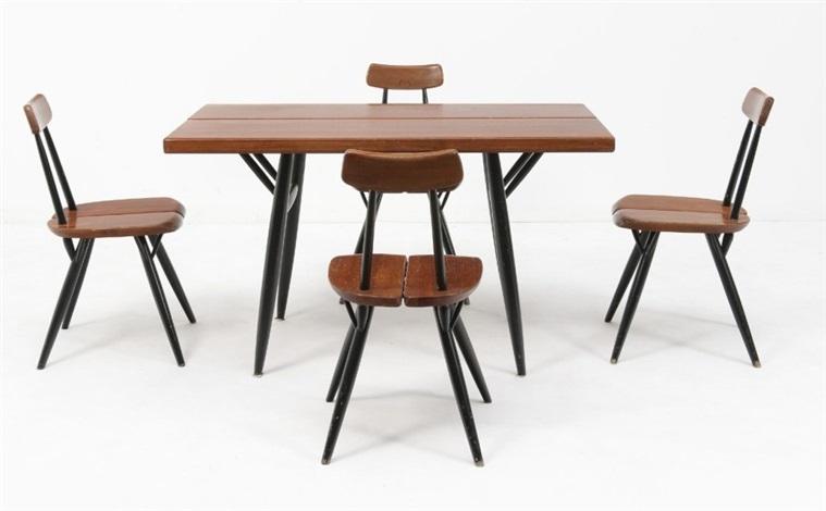 ensemble de salle a manger pirkkacompose d une table et quatre chaises modele by ilmari