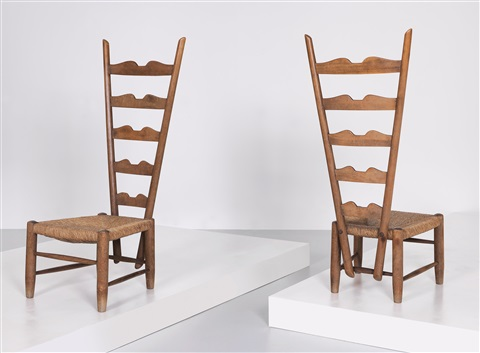 gio ponti chair flexible love folding two high back chairs by on artnet
