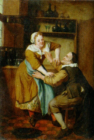 kitchen maid inexpensive cabinet makeovers an old man flirting with a by jan josef horemans the younger