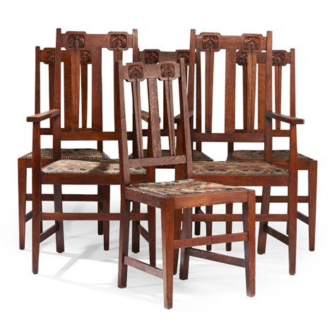 liberty dining chairs pottery barn bean bag set of six arts crafts oak by co on artnet