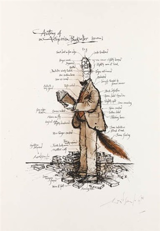 Image result for ronald searle anatomy of a booksellers