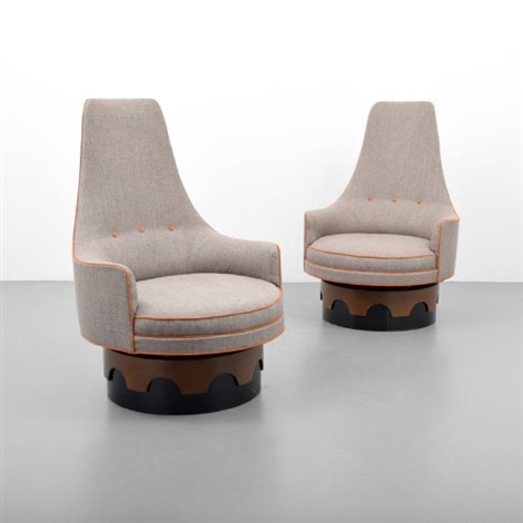adrian pearsall chair high cover graco pair of back swivel chairs by