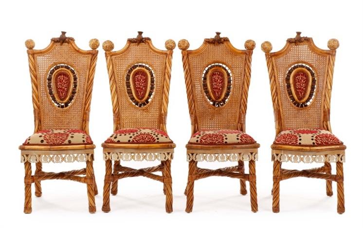 childs rattan chair 2 set of wicker side chairs by mackenzie on artnet