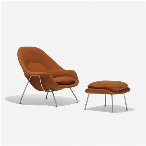 Womb chair and ottoman by Eero Saarinen on artnet
