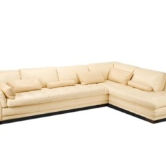 Cream Full Leather Chaise Sectional Sofa Lounge Bed L By Roche Bobois On Artnet