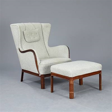chair and matching stool office chairs for back pain wingback with pair by frits henningsen on artnet