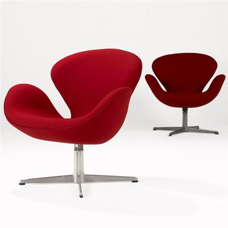 arne jacobsen swan chair fur bean bag chairs pair by on artnet