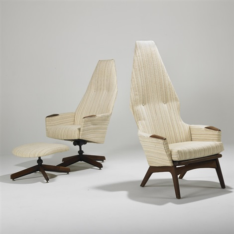 tall back chairs christmas chair covers canada lounge and ottoman 3 works by adrian pearsall on artnet