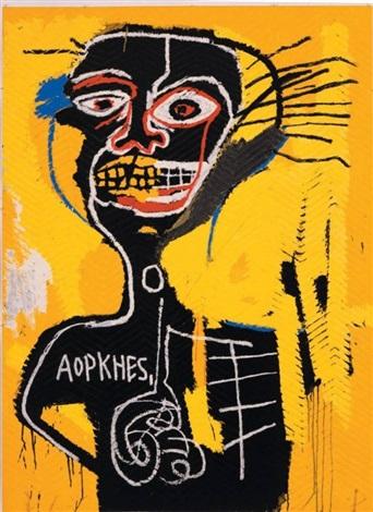 cabeza by jean-michel basquiat