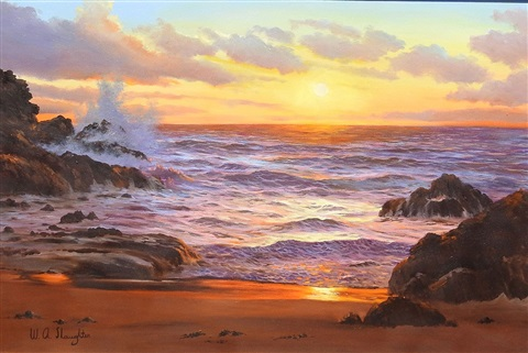 sunset seascape by william