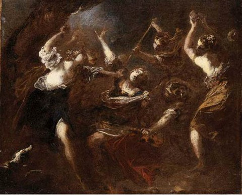 "Résultat de recherche d'images pour ""Orpheus attacked by the Maenads of Ciconia"""