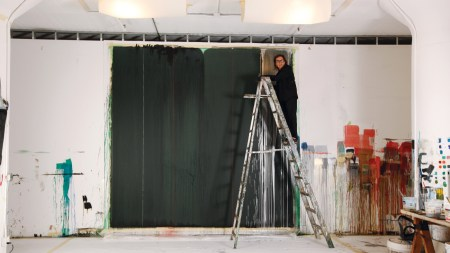 Pat Steir Paints Painting