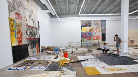 Oscar Murillo Works It the Rubell