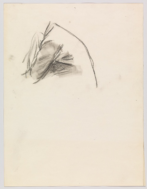 Edward Hopper, Study for Nighthawks, 1941 or 1942, fabricated chalk on paper, 10 7/16 x 8 in. COURTESY WHITNEY MUSEUM OF AMERICAN ART, NEW YORK; JOSEPHINE N. HOPPER BEQUEST 70.255. ©HEIRS OF JOSEPHINE N. HOPPER, LICENSED BY THE WHITNEY MUSEUM OF AMERICAN ART. DIGITAL IMAGE, © WHITNEY MUSEUM OF AMERICAN ART, NY.