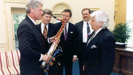 PSA: Bill Clinton's Saxophone Is On