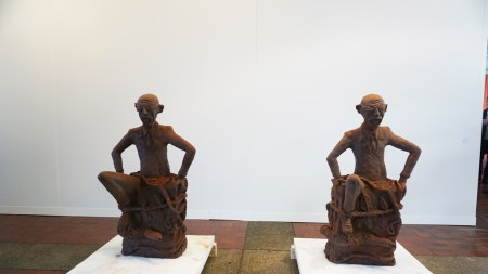 Chocolate Sculptures the Congolese Plantation Workers