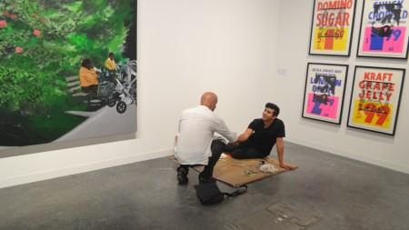 Artist Ramiro Gomez Paints Art Basel's