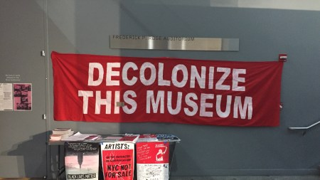 'Whitney Museum, Shame on You': Decolonize