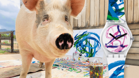 Swatch Collaborates With Porcine Painter Pigcasso