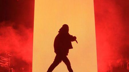 Kanye West Films at James Turrell's