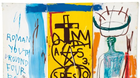 Jean-Michel Basquiat's 1982 collage-on-canvas 'Four Big'
