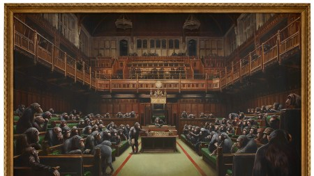 Banksy's Devolved Parliament,' 2009, sold for