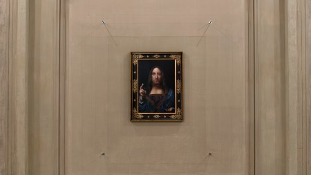 Taner Ceylan's copy of Leonardo's 'Salvator