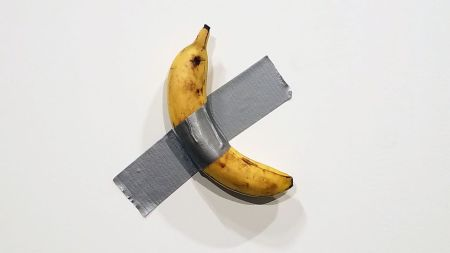 Maurizio Cattelan's 'Comedian' at Art Basel