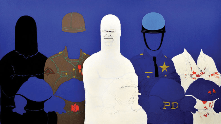 May Stevens, 'Big Daddy Paper Doll,'