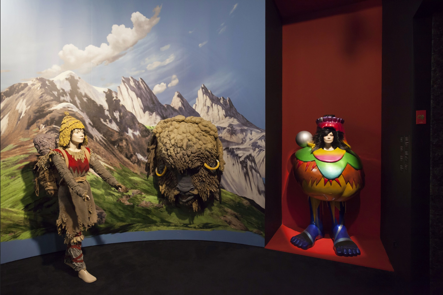 Installation view of Björk show at