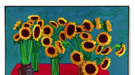 David Hockney, '30 Sunflowers', 1996.